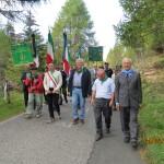 La delegazione dei Carabinieri rende omaggio alla croce del M.llo Tosetti
