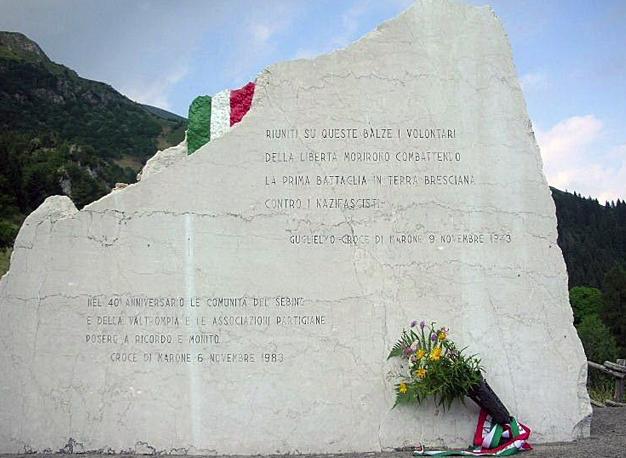 Il monumento partigiano a Croce di Marone