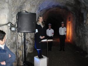 Breno, Immagini dello spettacolo nel rifugio antiaereo