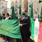 Brescia, Delegazione FFVV dinanzi al palco