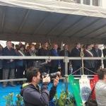 Brescia, Il palco e le autorità in Piazza Loggia