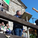 L'oratore ufficiale, il Presidente della Provincia Mottinelli