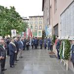 Omaggio ai caduti partigiani della città di Brescia