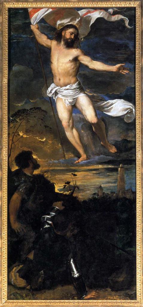 Tiziano  Vecellio, Cristo risorto (particolare del Polittico Averoldi, 1520-1522) Brescia, Collegiata dei Santi Nazaro e Celso